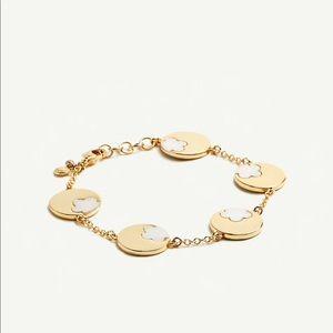 Ann Taylor mother of pearl flower bracelet